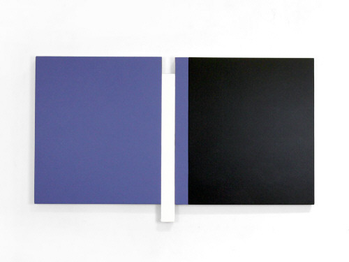 Artist: Scot Heywood, Title: Sunyata Blue, White, Black, 2009 - click for larger image