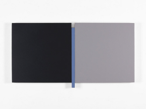 Artist: Scot Heywood, Title: Un Deux Trois Black, Blue, Gray, 2006 - click for larger image