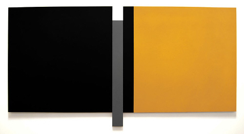 Artist: Scot Heywood, Title: Untitled Black, Gray, Yellow, 2008 - click for larger image
