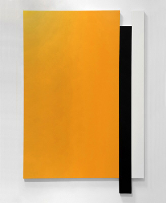 Artist: Scot Heywood, Title: Untitled Yellow, Umber, White, 2009 - click for larger image