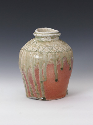 Artist: Sugimoto Sadamitsu, Title: Iga Flower Vase (view 1), N.D. - click for larger image