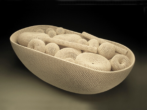 Artist: Tony Marsh, Title: Perforated Vessel Series / Vessel & Contents, 2009 - click for larger image