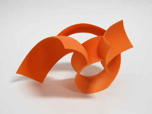 Artist: Wouter Dam, Title: Orange Sculpture, 2008 - click for larger image
