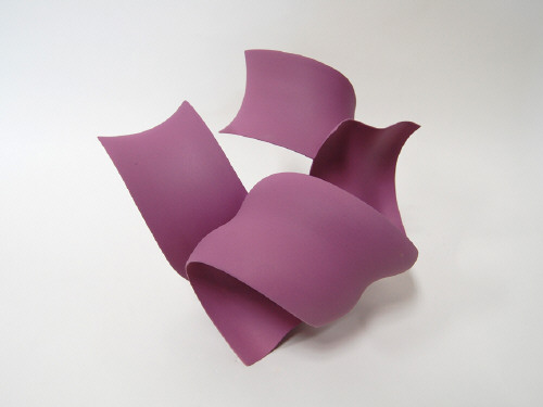 Artist: Wouter Dam, Title: Purple Sculpture, 2009 - click for larger image